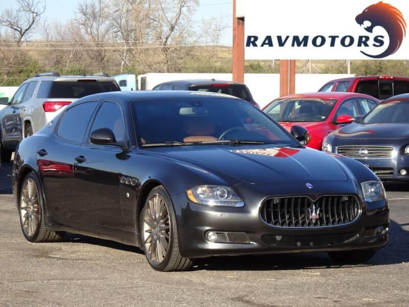 2010 Maserati Quattroporte for sale at RAVMOTORS in Burnsville MN