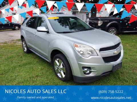 2012 Chevrolet Equinox for sale at NICOLES AUTO SALES LLC in Cream Ridge NJ