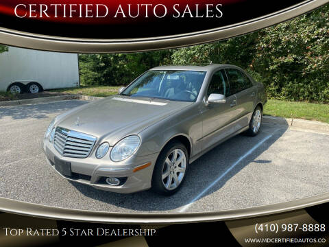 2007 Mercedes-Benz E-Class for sale at CERTIFIED AUTO SALES in Severn MD