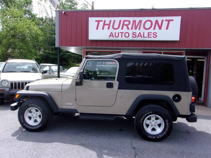2004 Jeep Wrangler for sale at THURMONT AUTO SALES in Thurmont MD