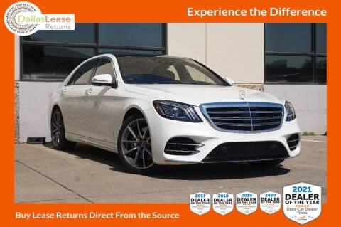 2019 Mercedes-Benz S-Class for sale at Dallas Auto Finance in Dallas TX