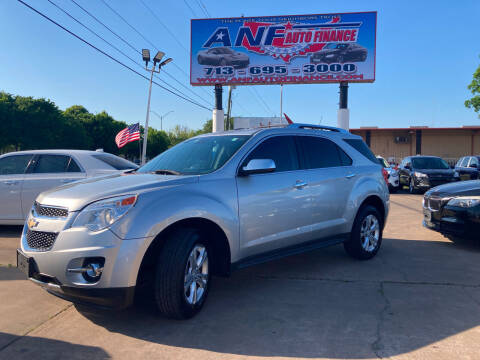 2012 Chevrolet Equinox for sale at ANF AUTO FINANCE in Houston TX