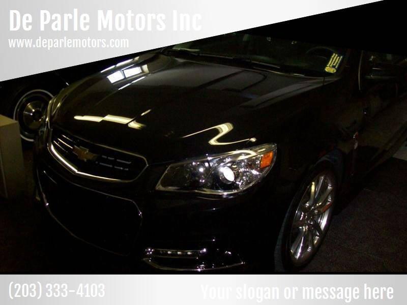 2015 Chevrolet SS for sale at De Parle Motors Inc in Bridgeport CT