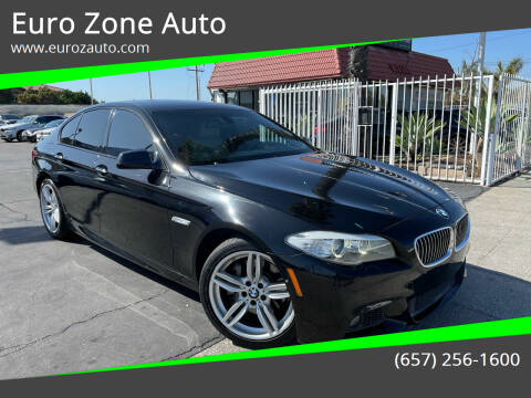 2012 BMW 5 Series for sale at Euro Zone Auto in Stanton CA