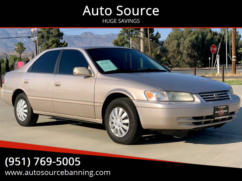 1998 Toyota Camry for sale at Auto Source in Banning CA