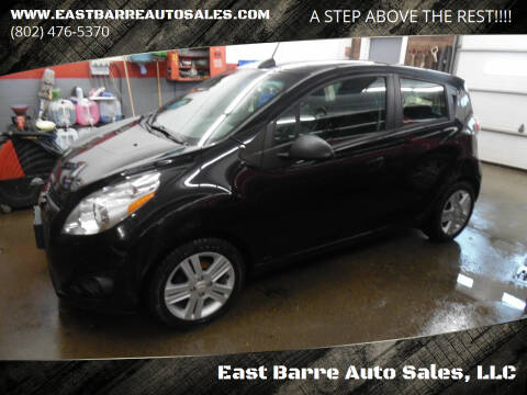 2015 Chevrolet Spark for sale at East Barre Auto Sales, LLC in East Barre VT