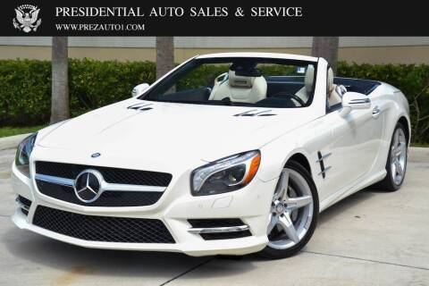 2014 Mercedes-Benz SL-Class for sale at Presidential Auto  Sales & Service in Delray Beach FL