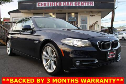 2014 BMW 5 Series for sale at CERTIFIED CAR CENTER in Fairfax VA