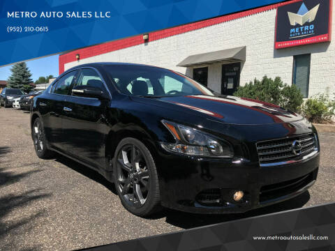 2013 Nissan Maxima for sale at METRO AUTO SALES LLC in Blaine MN