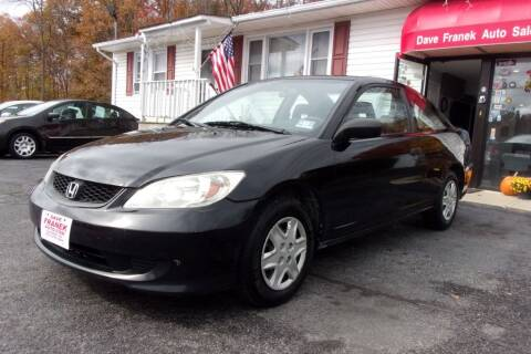 2004 Honda Civic for sale at Dave Franek Automotive in Wantage NJ