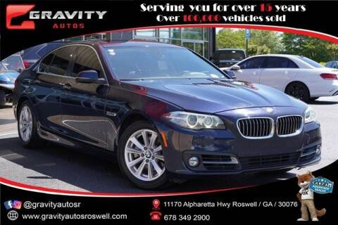 2016 BMW 5 Series for sale at Gravity Autos Roswell in Roswell GA