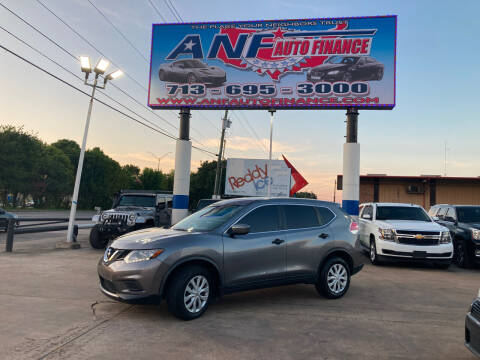 2016 Nissan Rogue for sale at ANF AUTO FINANCE in Houston TX