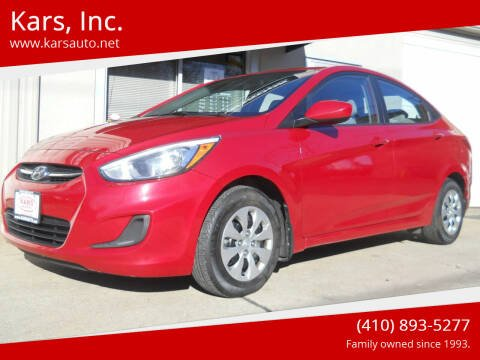 2015 Hyundai Accent for sale at Kars, Inc. in Fallston MD