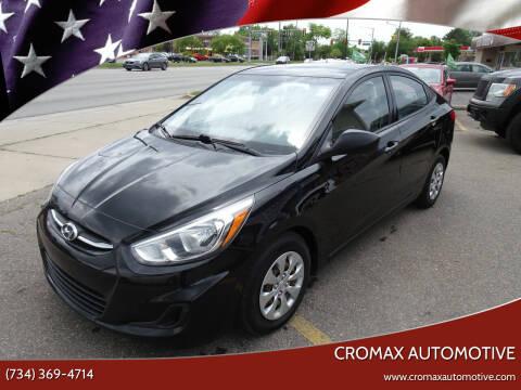 2016 Hyundai Accent for sale at Cromax Automotive in Ann Arbor MI