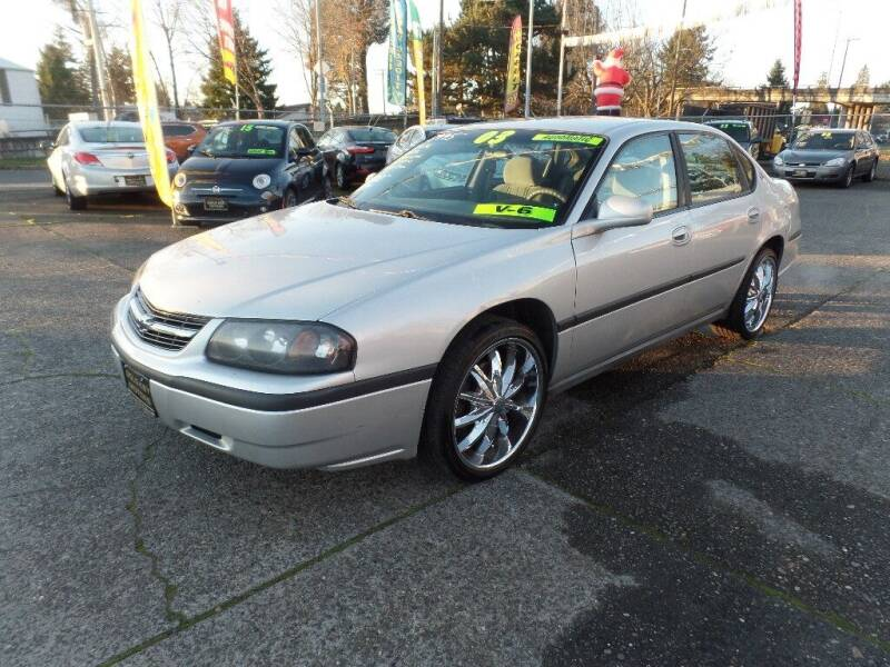2003 Chevrolet Impala for sale at Gold Key Motors in Centralia WA