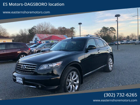 2007 Infiniti FX35 for sale at ES Motors-DAGSBORO location in Dagsboro DE