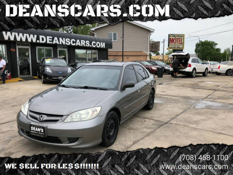 2004 Honda Civic for sale at DEANSCARS.COM in Bridgeview IL