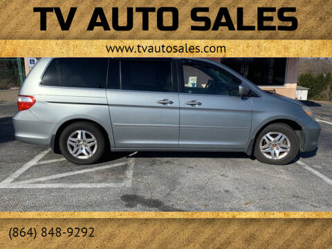 2006 Honda Odyssey for sale at TV Auto Sales in Greer SC