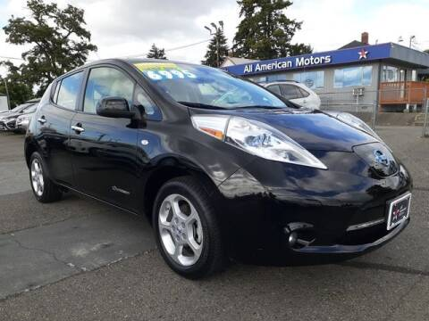2011 Nissan LEAF for sale at All American Motors in Tacoma WA