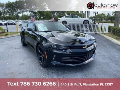 2018 Chevrolet Camaro for sale at AUTOSHOW SALES & SERVICE in Plantation FL
