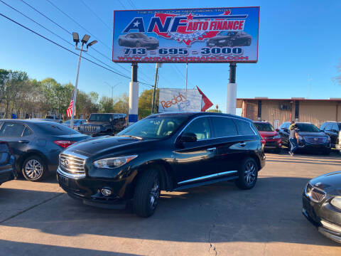 2014 Infiniti QX60 for sale at ANF AUTO FINANCE in Houston TX