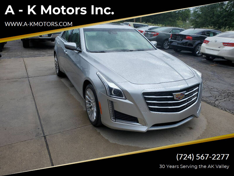 2016 Cadillac CTS for sale at A - K Motors Inc. in Vandergrift PA