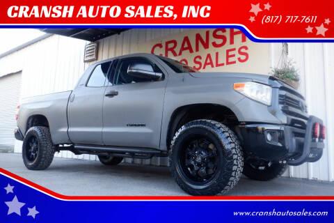 2016 Toyota Tundra for sale at CRANSH AUTO SALES, INC in Arlington TX