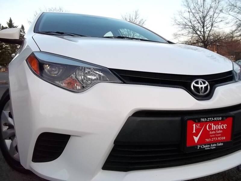 2014 Toyota Corolla for sale at 1st Choice Auto Sales in Fairfax VA