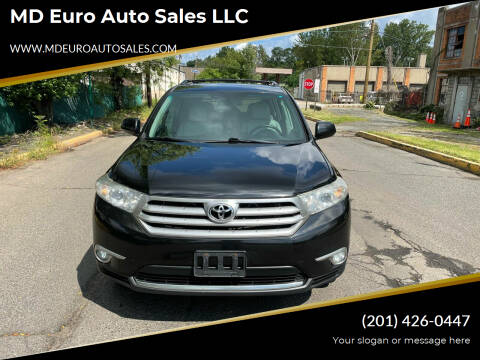 2012 Toyota Highlander for sale at MD Euro Auto Sales LLC in Hasbrouck Heights NJ