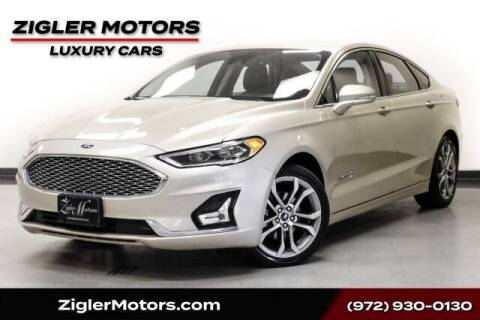 2019 Ford Fusion Hybrid for sale at Zigler Motors in Addison TX