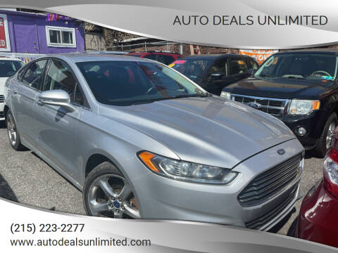 2014 Ford Fusion for sale at AUTO DEALS UNLIMITED in Philadelphia PA