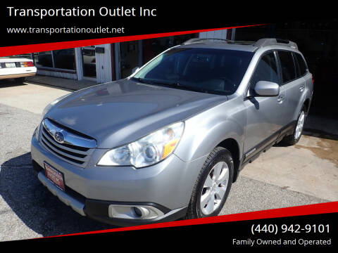 2010 Subaru Outback for sale at Transportation Outlet Inc in Eastlake OH