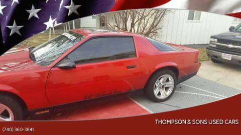 1987 Chevrolet Camaro for sale at THOMPSON & SONS USED CARS in Marion OH