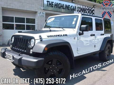 2017 Jeep Wrangler Unlimited for sale at The Highline Car Connection in Waterbury CT