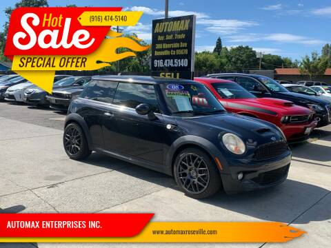 2008 MINI Cooper for sale at AUTOMAX ENTERPRISES INC. in Roseville CA