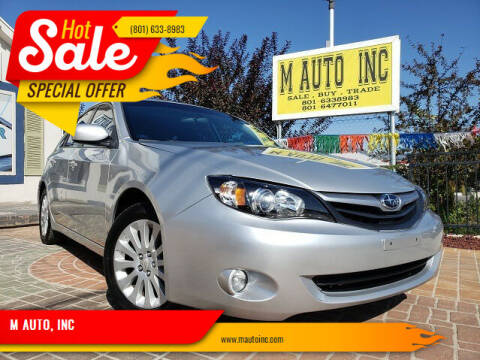 2010 Subaru Impreza for sale at M AUTO, INC in Millcreek UT