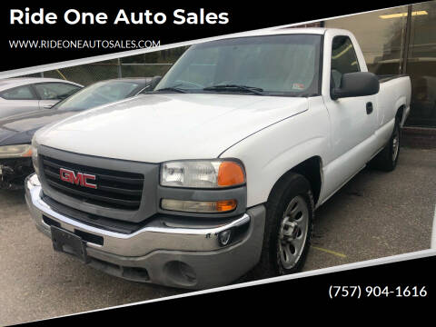 2006 GMC Sierra 1500 for sale at Ride One Auto Sales in Norfolk VA