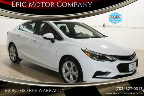 2017 Chevrolet Cruze for sale at Epic Motor Company in Chantilly VA