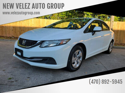 2013 Honda Civic for sale at NEW VELEZ AUTO GROUP in Gainesville GA