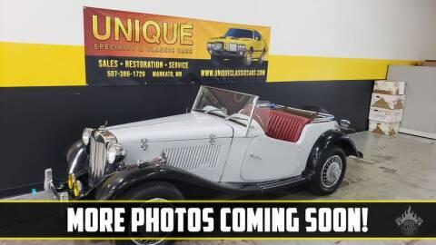 1953 MG TD for sale at UNIQUE SPECIALTY & CLASSICS in Mankato MN