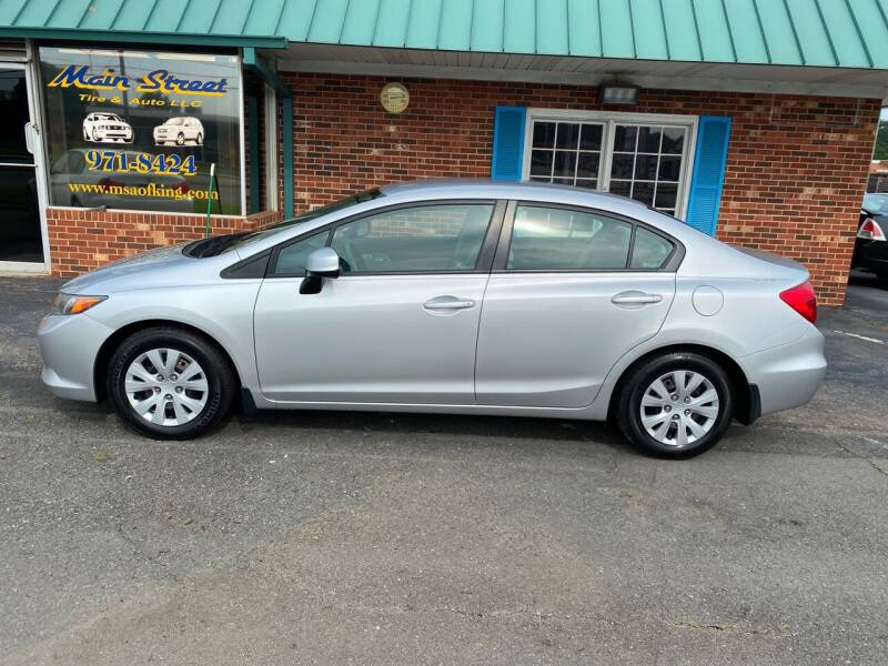 2012 Honda Civic for sale at Main Street Auto LLC in King NC