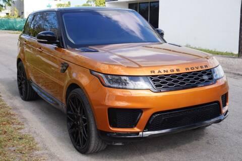 2018 Land Rover Range Rover Sport for sale at SUPER DEAL MOTORS in Hollywood FL