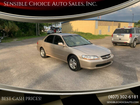2000 Honda Accord for sale at Sensible Choice Auto Sales, Inc. in Longwood FL