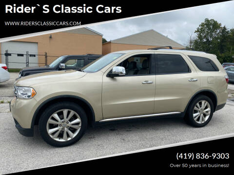 2011 Dodge Durango for sale at Rider`s Classic Cars in Millbury OH