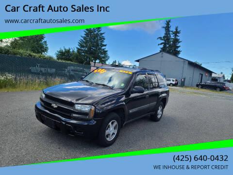2004 Chevrolet TrailBlazer for sale at Car Craft Auto Sales Inc in Lynnwood WA