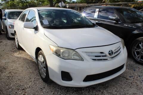 2013 Toyota Corolla for sale at Goval Auto Sales in Pompano Beach FL