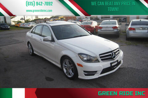 2014 Mercedes-Benz C-Class for sale at Green Ride Inc in Nashville TN