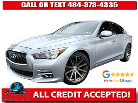 2015 Infiniti Q50 for sale at World Class Auto Exchange in Lansdowne PA