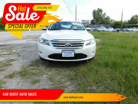 2010 Ford Taurus for sale at CAR QUEST AUTO SALES in Houston TX