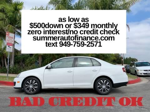 2010 Volkswagen Jetta for sale at SUMMER AUTO FINANCE in Costa Mesa CA
